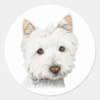 ウエスト・ハイランド・ホワイト・テリア犬 ラウンドシール
