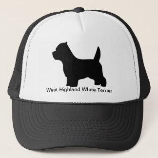 ウエスト・ハイランド・ホワイト・テリア犬、westieのシルエット キャップ