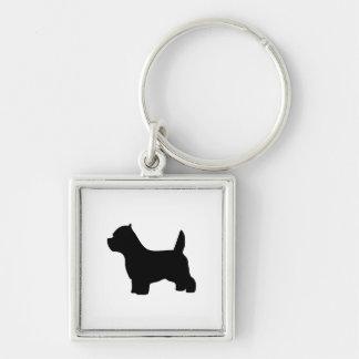 ウエスト・ハイランド・ホワイト・テリア犬、westieのシルエット キーホルダー