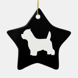 ウエスト・ハイランド・ホワイト・テリア犬、westieのシルエット セラミックオーナメント