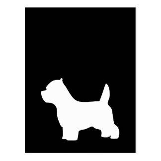 ウエスト・ハイランド・ホワイト・テリア犬、westieのシルエット ポストカード