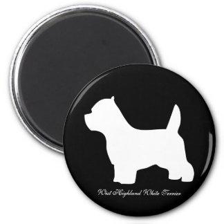 ウエスト・ハイランド・ホワイト・テリア犬、westieのシルエット マグネット
