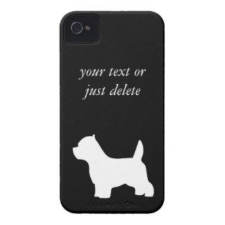 ウエスト・ハイランド・ホワイト・テリア犬、westieのシルエット Case-Mate iPhone 4 ケース