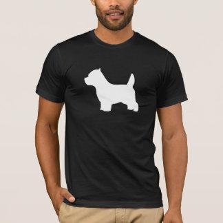 ウエスト・ハイランド・ホワイト・テリア犬、westieのシルエット tシャツ
