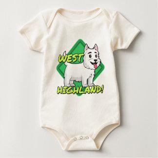 ウエスト・ハイランド・ホワイト・テリア ベビーボディスーツ