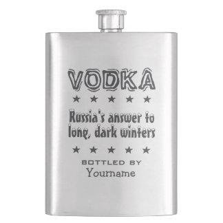 ウォッカ-ロシアのカスタムのフラスコ フラスク