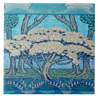 ウォルタークレーンによって設計されている5月の1896日木のフリーズ タイル