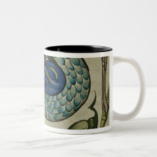 ウォルタークレーンによって鷲および魚のデザインを、タイルを張って下さい ツートーンマグカップ