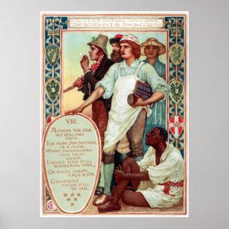 ウォルタークレーンコロンビアの求愛の移民 ポスター