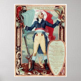 ウォルタークレーンコロンビアの求愛フランス人 ポスター
