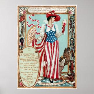 ウォルタークレーンコロンビアの求愛米国 ポスター