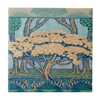 ウォルタークレーン1896年によって設計されている5月の木のフリーズ タイル