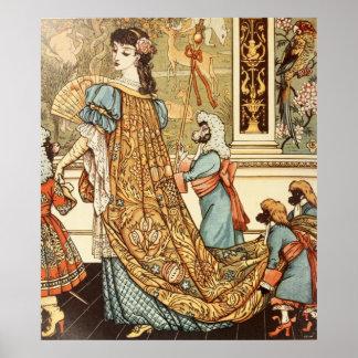 ウォルタークレーン、美しいおよび獣1875年 ポスター
