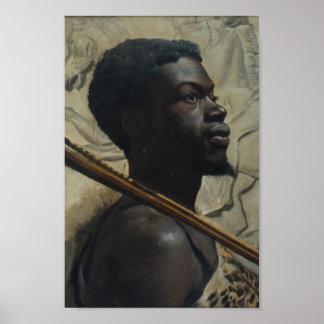 ウォルター・スコットBoyd著アフリカの戦士 ポスター