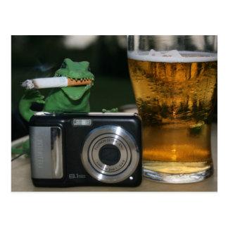 ウォルター: ビール、Cig、カメラの郵便はがき ポストカード