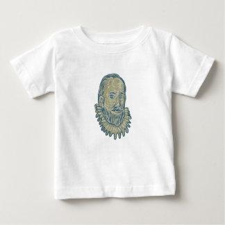 ウォルター・ローリーバストのスケッチ ベビーTシャツ
