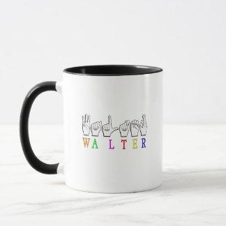 ウォルターFINGERSPELLEDの一流の印ASL マグカップ