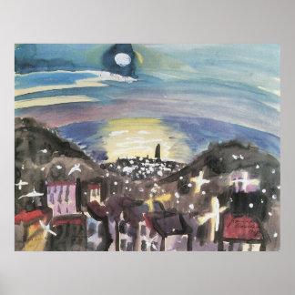 ウォルターGramatt著夜(第1版)のバルセロナ ポスター