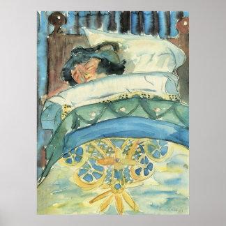 ウォルターGramatte著睡眠の女の子(ii) ポスター