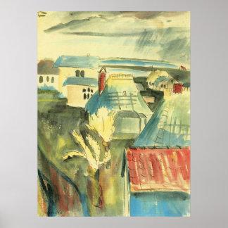 ウォルターGramatte著雨の後のHiddensoe ポスター