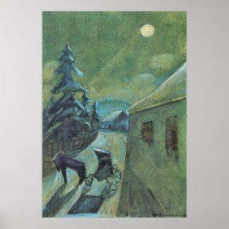 ウォルターGramatte著馬とのMoonscape ポスター