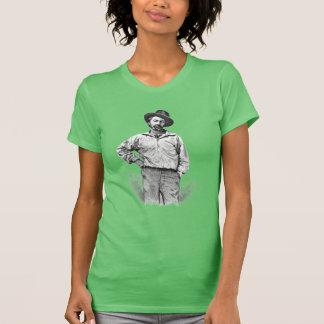 """ウォルト・ホイットマン""""私は草の葉を""""の引用語句信じます Tシャツ"""