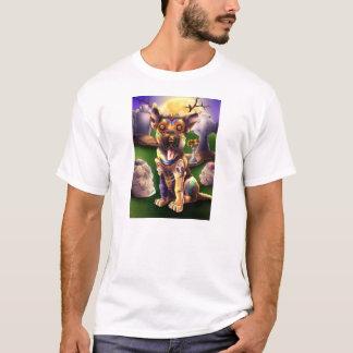 ウォルフガング子犬のTシャツDiaDeLosMuertosPerros.com Tシャツ