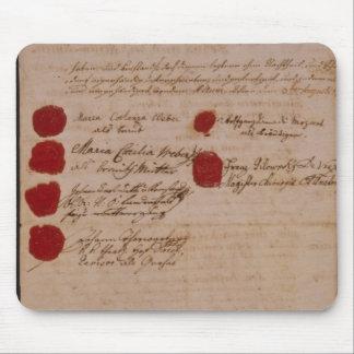 ウォルフガング、モーツァルトおよびWeberの結婚証明書 マウスパッド