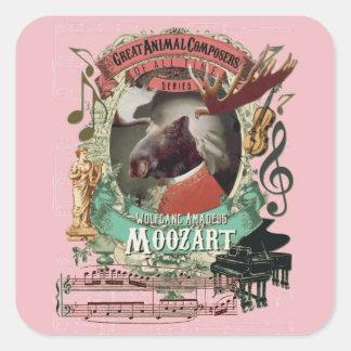 ウォルフガングAmadeus Moozartのアメリカヘラジカ動物作曲家 スクエアシール
