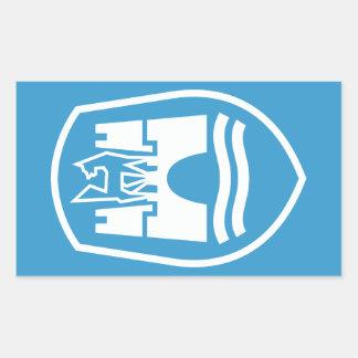 ウォルフスブルクの紋章付き外衣(白い) 長方形シール