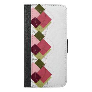 ウォレットケースとばら色色の芸術のデザインのiPhone 6/6s iPhone 6/6s Plus ウォレットケース