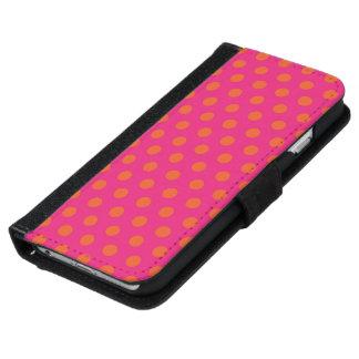 ウォレットケースのiPhone 6つの水玉模様 iPhone 6 ウォレットケース