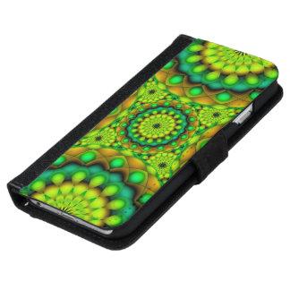 ウォレットケースのiPhone 6曼荼羅のサイケデリックな視野 iPhone 6/6s ウォレットケース