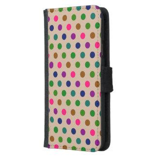 ウォレットケースのSamsung S5の水玉模様 Galaxy S5 ウォレットケース
