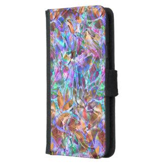 ウォレットケースのSamsung S5の花柄のステンドグラス Galaxy S5 ウォレットケース