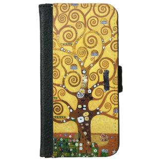 ウォレットケースグスタフのクリムトの生命の樹 iPhone 6/6S ウォレットケース