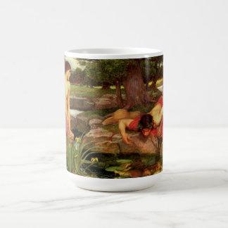 ウォーターハウスのエコーおよびスイセンのマグ コーヒーマグカップ