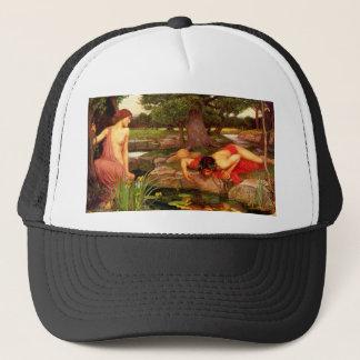 ウォーターハウスのエコーおよびスイセンの帽子 キャップ