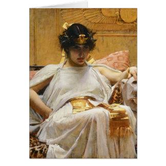ウォーターハウスのCleopatraの挨拶状 カード