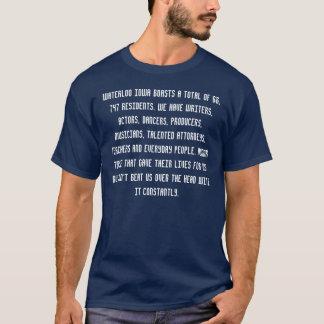 ウォータールーアイオワは68、747の合計をresiden…自慢します tシャツ