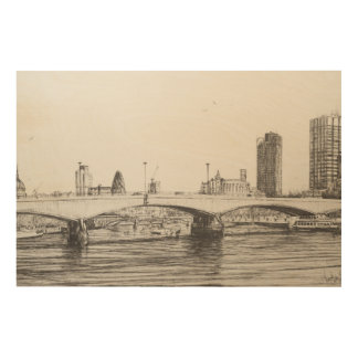 ウォータールー橋ロンドン。 31/10/2006 ウッドウォールアート