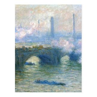ウォータールー橋、クロード・モネ著ロンドン ポストカード