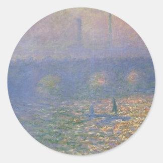 ウォータールー橋、クロード・モネ著ロンドン ラウンドシール