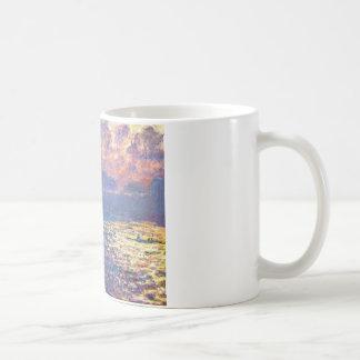 ウォータールー橋、クロード・モネ著日光の効果 コーヒーマグカップ