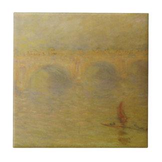 ウォータールー橋、クロード・モネ著日光の効果 タイル