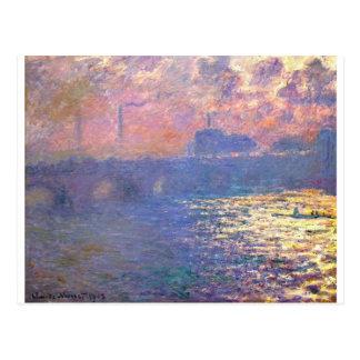 ウォータールー橋、クロード・モネ著日光の効果 ポストカード