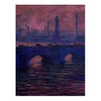ウォータールー橋、クロード・モネ著曇た天候 ポストカード