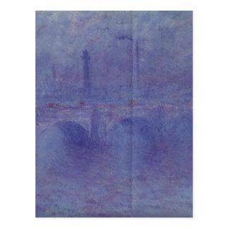 ウォータールー橋、クロード・モネ著霧の効果 ポストカード