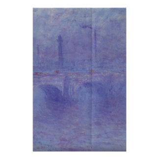 ウォータールー橋、クロード・モネ著霧の効果 便箋