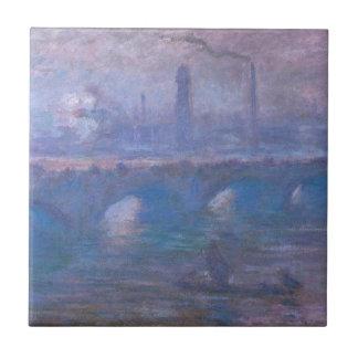 ウォータールー橋、クロード・モネ著霧深い朝 タイル